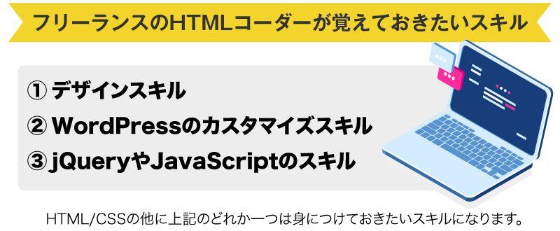 HTMLコーダーがフリーランスになる前に取得したいスキル